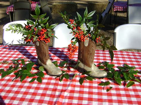 western theme table decorations ideas s creations