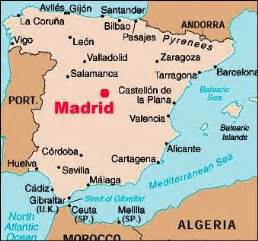 madrid spain on world map madrid map maps of madrid spain