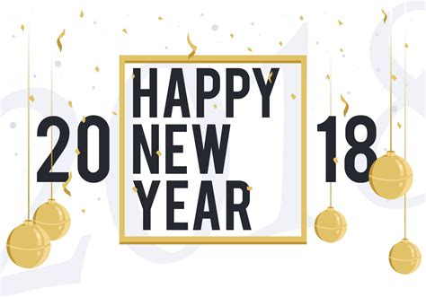 new year graphic vector free happy new year 2018 free vector illustration