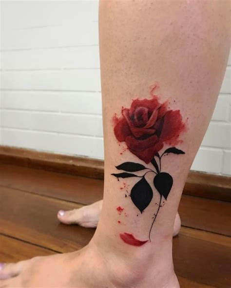 rose tattoos on leg 25 best ideas about ankle tattoos on