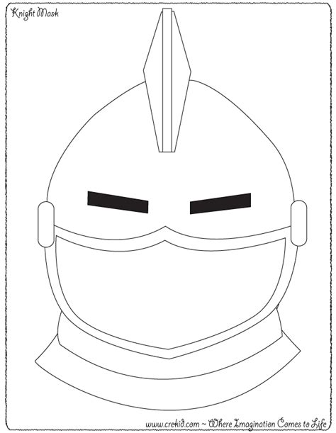 knight face coloring page knight mask knights castles knight printout knight