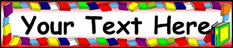 classroom banner template editable books reading display banner template sb9265 sparklebox