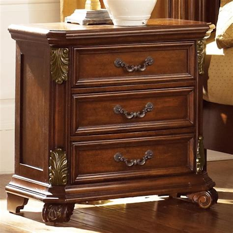 liberty furniture messina cherry nightstand with 3 drawers