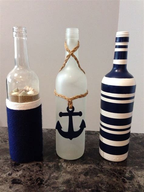 Wine Bottle Decoration by 25 Best Ideas About Nautical Craft On