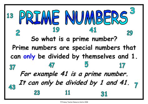 printable prime number poster prime numbers free poster by uk teaching resources tes