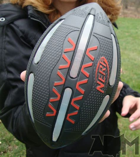 nerf light up football nerf firevision sports football glows