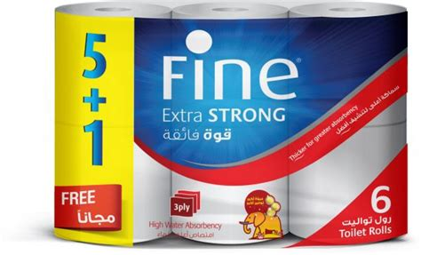 fine toilet paper extra strong  ply pack   rolls buy    price  egypt