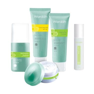 Wardah Essential Series jual make up kosmetik parfum skin care wardah terbaru blibli