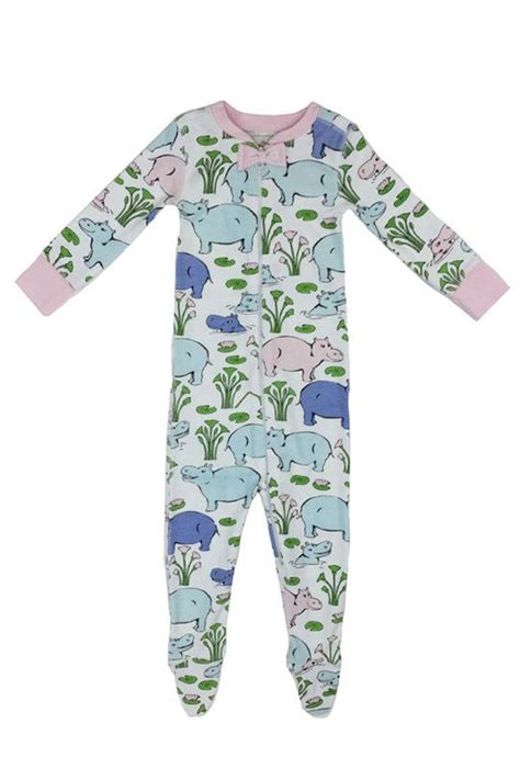 Hippo Sleepwear the beaufort bonnet company hippo onesie from by bambinos shoptiques