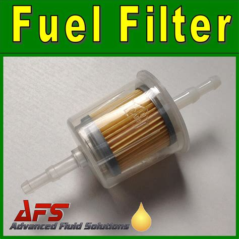 large inline petrol diesel fuel filter mm mm hose tails
