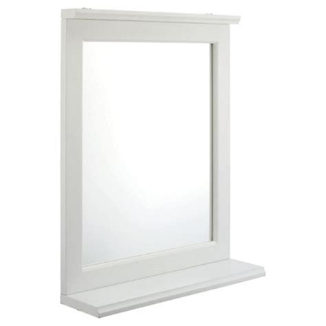 buy southwold bathroom mirror with shelf white wood
