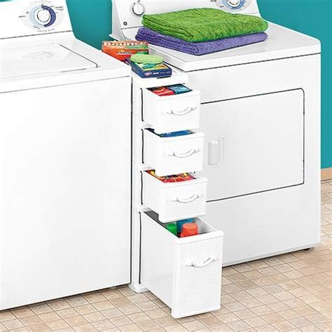 narrow cabinet between washer and dryer wicker laundry organizer between washer dryer drawers