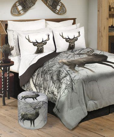 great hunting dog bed set another great find on zulily deer in snowy forest wildlife comforter set zulilyfinds things