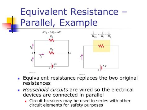 resistors connected in parallel circuit series and parallel circuits ppt