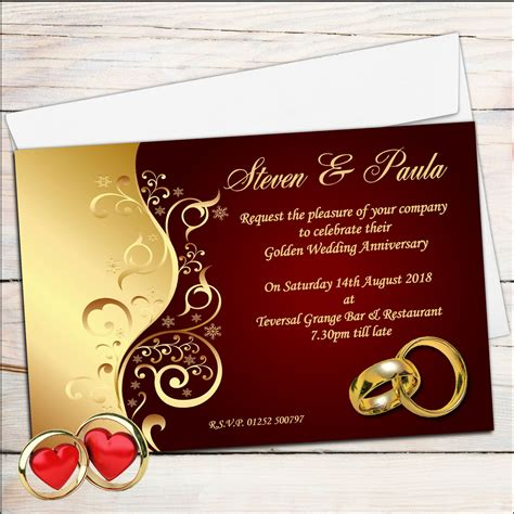 personal wedding cards templates wedding invitation marriage anniversary invitation card