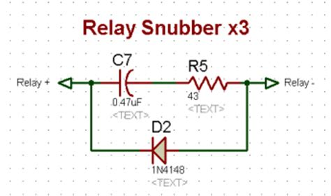 diode rc snubber circuit rc snubber circuit design for relay