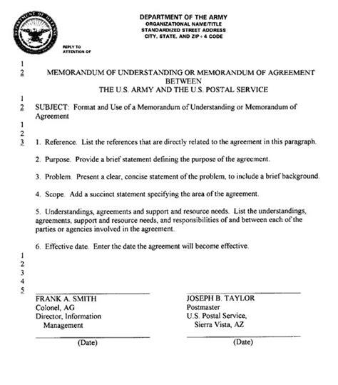 Memorandum Of Understanding Agreement Format Best Template Design Images Mou Contract Template