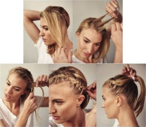 best hairstyles for running keep race day hair in place with a headband braid women