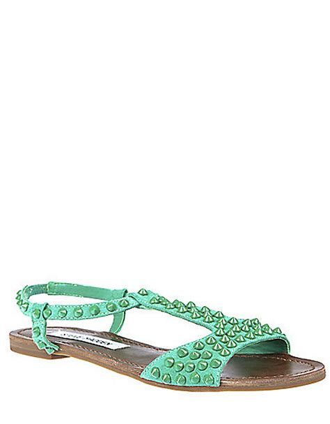 steve madden studded sandals steve madden nickiee tstrap sandals with studded accents