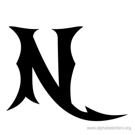 A N cool letter n designs letters
