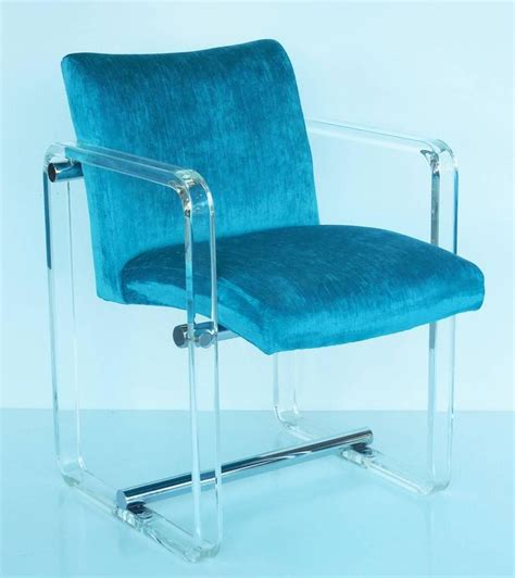 Dining Room Chairs Turquoise Six Turquoise Lucite And Chrome Dining Chairs 1970s At