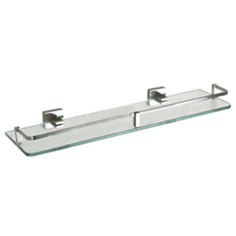 Glass Bathroom Shelves Brushed Nickel Shop Barclay Jordyn Brushed Nickel Glass Bathroom Shelf At Lowes
