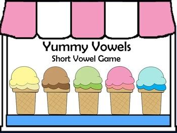 printable short vowel board games yummy vowels printable game short vowel sounds by