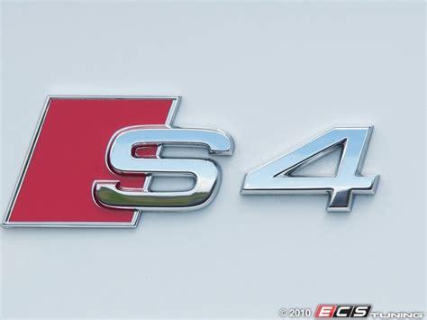 Audi S4 Emblem ecs news genuine audi rear s4 emblems