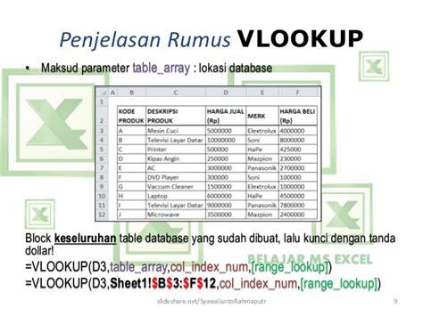belajar membuat database dengan excel belajar ms excel rumus vlookup mengisi data kolom