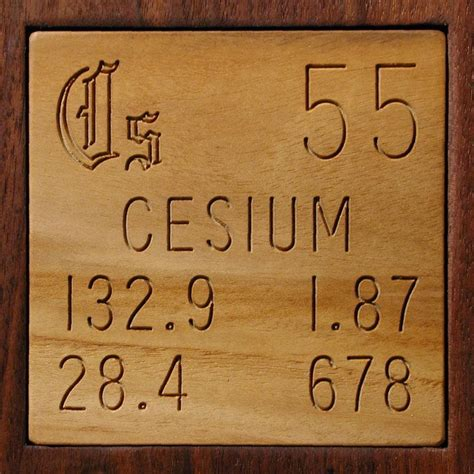 Cesium Periodic Table by Facts Pictures Stories About The Element Cesium In The