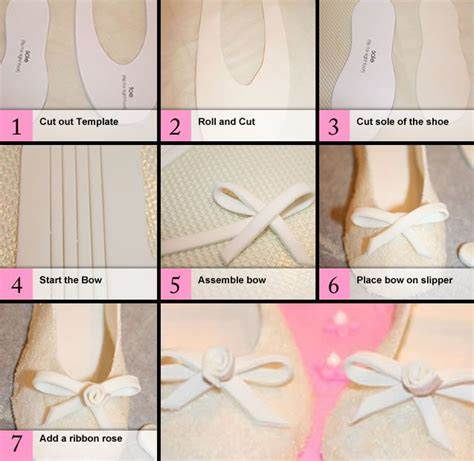 how to make slippers how to make ballet slippers out of fondant or gumpaste
