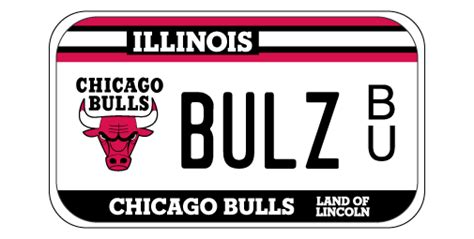 Cyberdriveillinois Vanity Plate by Chicago Bulls Motorcycle License Plates
