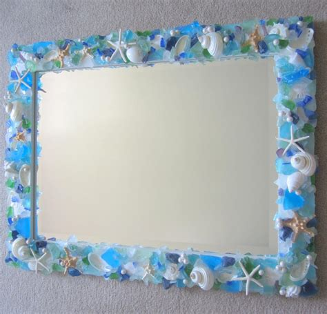 outstanding beachy bathroom diy shell mirror shell shell mirrors for beach decor seashell mirror w sea