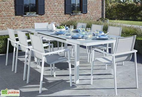 table blanche jardin table jardin blanche table aluminium jardin maisonjoffrois