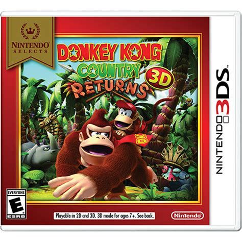 Kaset Kong Country Returns 3d 3ds kong country returns 3d 3ds nintendo 3ds 3ds xl 2ds best buy canada