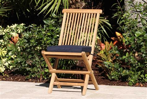 folding chair cushion pad oceanic teak furniture