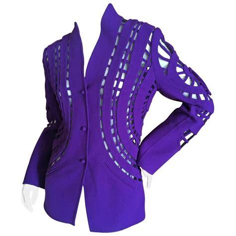 eye pattern clothes ralph rucci chado purple bulls eye pattern jacket for sale