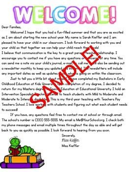 school supply list template welcome letter school supply list template by primarily