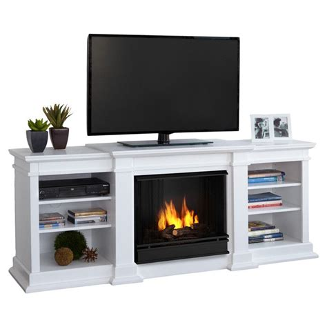 Gel Fireplace Tv Stand by Fresno 72 Quot Tv Stand With Gel Fuel Fireplace
