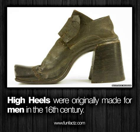 high heels originally made for high heels were originally made for in the 16th century