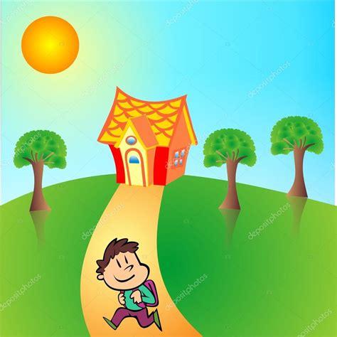 scuola a casa tornare a casa da scuola vettoriali stock 169 muge35 13711285