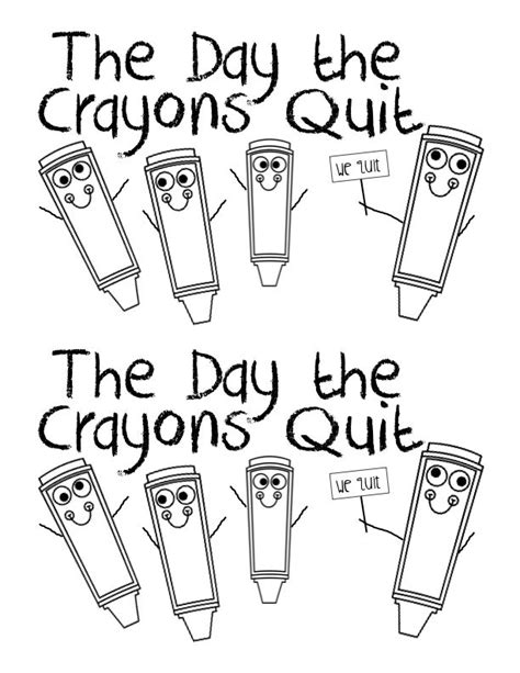 The Day The Crayons Quit Coloring Page - Coloring Home