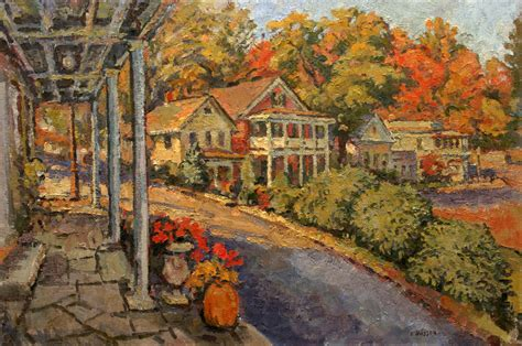 An original oil painting of Main Street in the artists