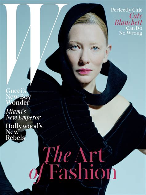 cate blanchett stunning on cover of w magazine january