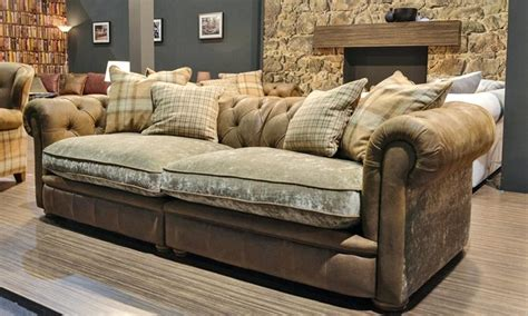 combination leather and fabric sofas leather and fabric