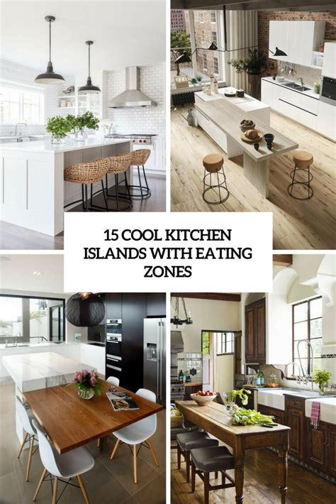 15 funky kitchen islands that will make you jump on the 15 cool kitchen islands with eating zones shelterness