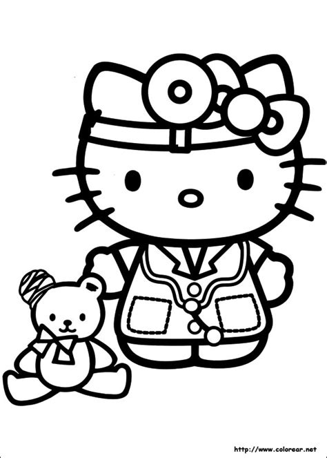 hello kitty nurse coloring pages free coloring pages of hallo kitty zum ausmalen
