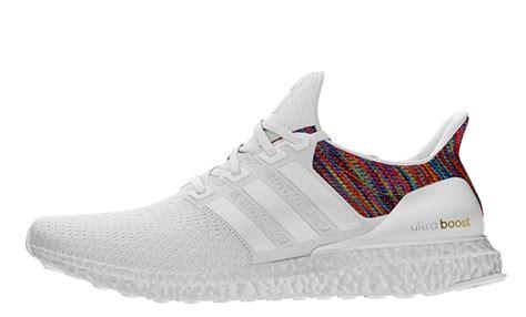 Sepatu Adidas Ultra Boost Rainbow White Multicolor Sneaker New 2017 adidas ultra boost multicolor uk sneakerdiscount