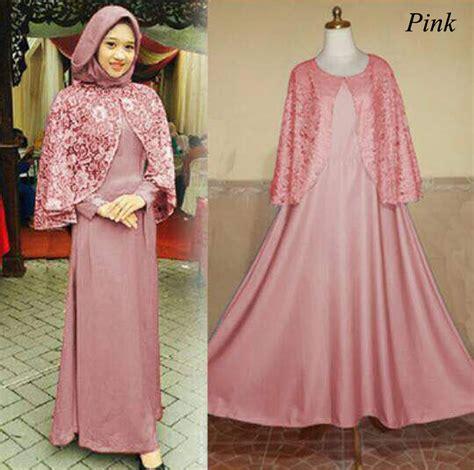 Syari Lunna By Nafsya 4warna Supplier Busana Muslim baju gamis pesta ukuran xl nemo