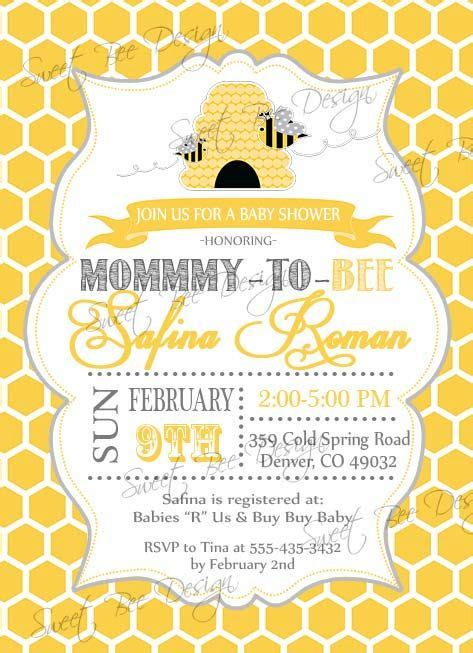 Bee Baby Shower Invitations by Bee Baby Shower By Baby Ideas Neutral Theme
